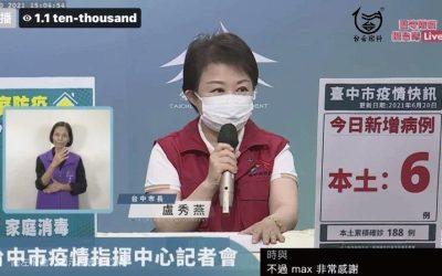 台中今+6家庭傳播鏈再起 盧秀燕:在家也別鬆懈