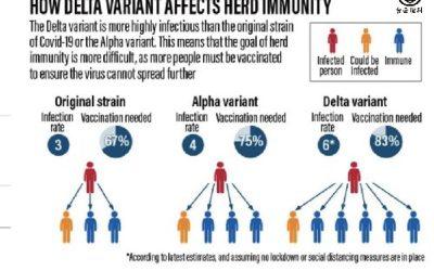 Delta變種病毒株有多可怕 名醫用圖解析